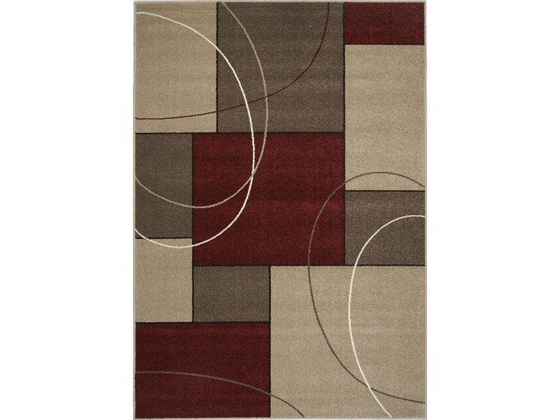 Casa 3604 225 Red Area Rug Rugs