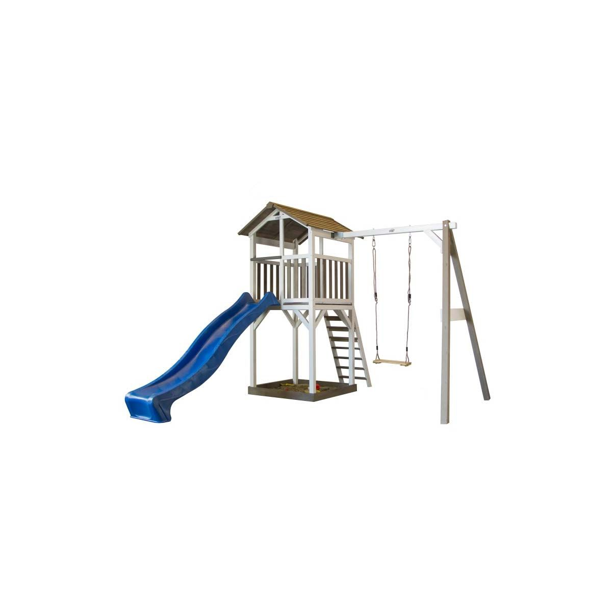 Spielhaus Mit Rutsche Und Schaukel Holz Weiss Spielhaus Mit Rutsche Spielturm Doppelschaukel