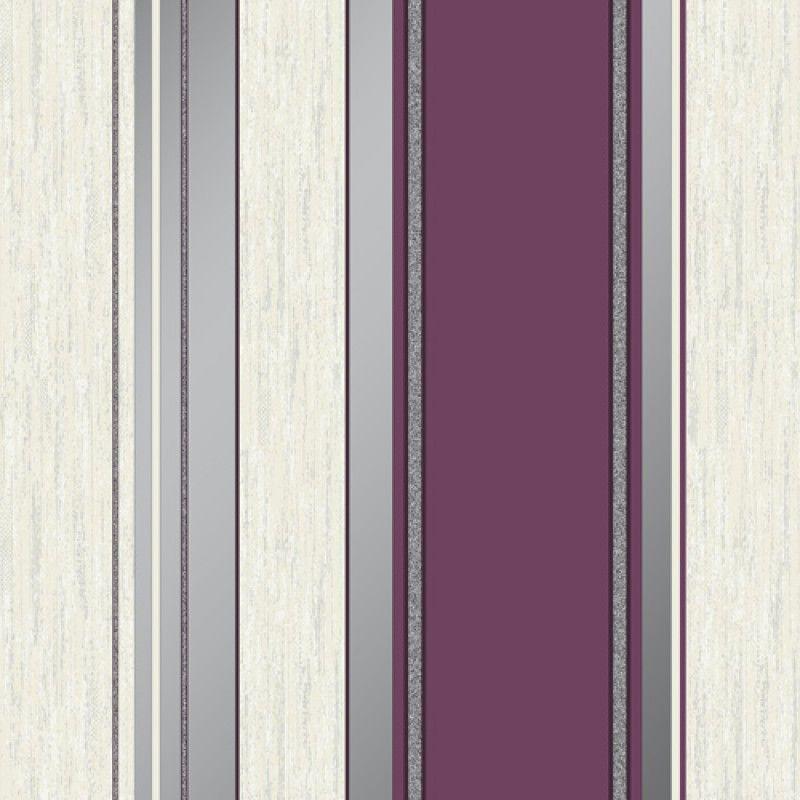 SYNERGY STRIPE WALLPAPER RICH RED VYMURA M0803 GLITTER
