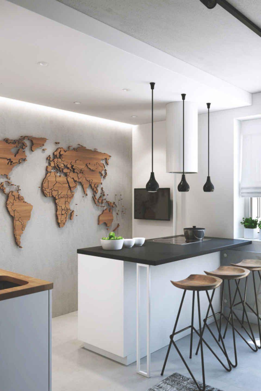 Deco Murale Mappemonde dedans inspiring examples of minimal interior design 3   pinterest