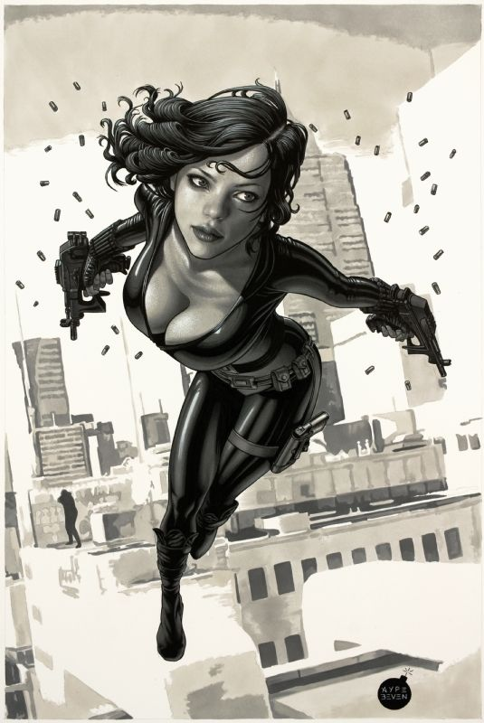 Black Widow Bow Black And White Ebony