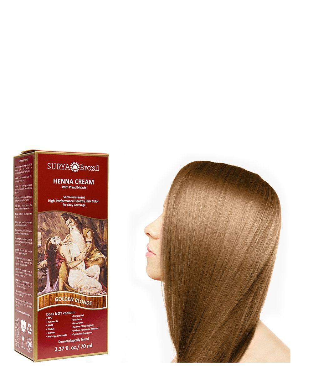 Natural Golden Blonde Henna Cream Organic Golden Blonde Henna Cream Surya Brasil Henna Hair Color Blonde Henna Hair Color