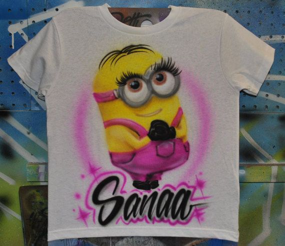 Airbrushed Mickey /& Minnie Love T-shirt Personalized w//YOUR Name/'s