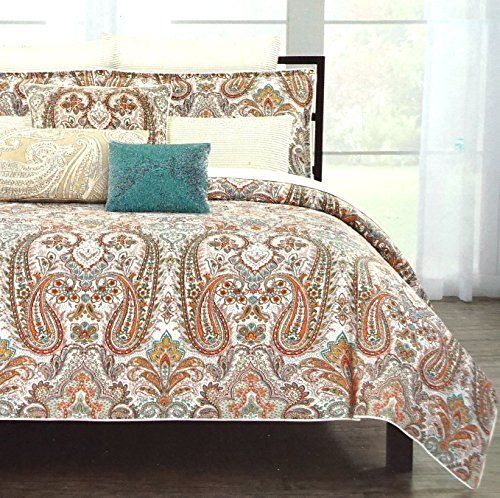 Cynthia Rowley Persian Boteh Duvet Cover 3 Piece Set