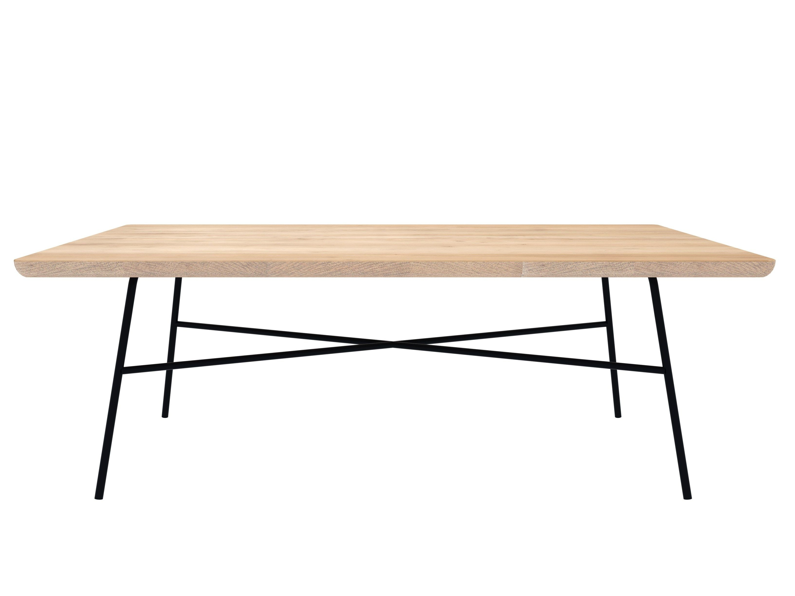 Oak Disc - Rectangular Coffee Table Oak Disc Collection By