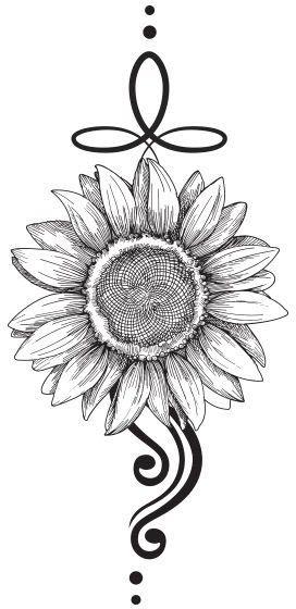 Photo of Sunflower Black Tattoo