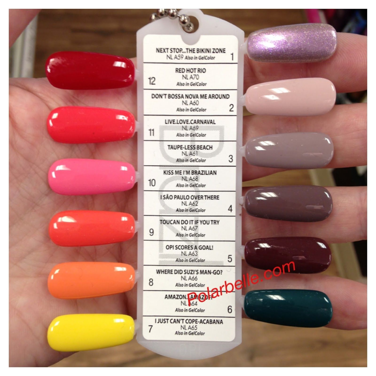 New Opi Brazil Nail Polish Collection Pics Swatches With Names Polarbelle Nail Polish Color Names Opi Gel Nails Opi Nail Colors