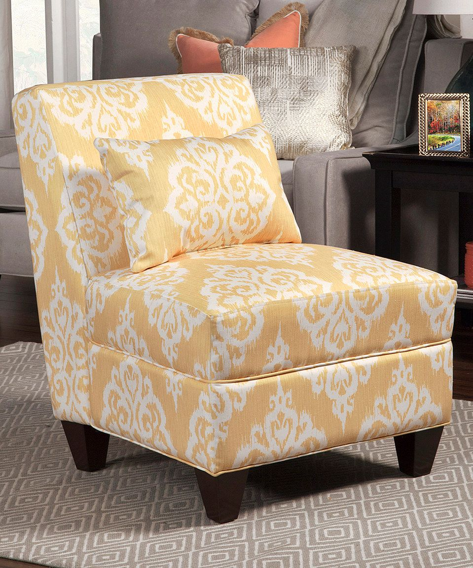Look What I Found On Zulily Homepop Yellow Cream Accent Chair
