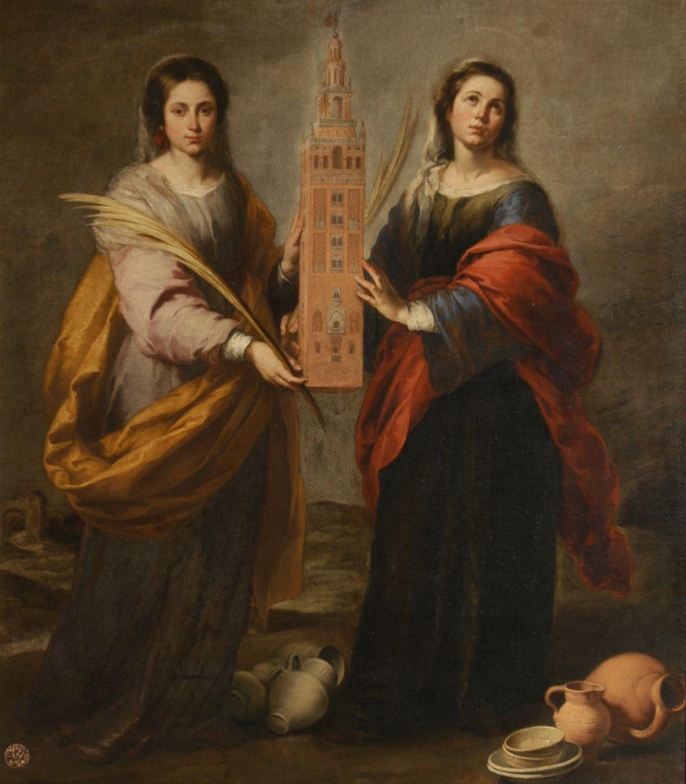 St. Justina and St. Rufina, 1675 Bartolome Esteban Murillo
