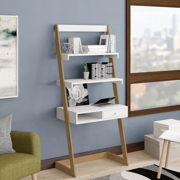 Calvin Freestanding L Shaped Ladder Desk In 2020 With Images