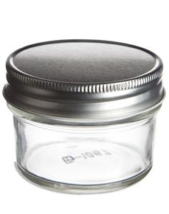 de73dba5d890 4 oz Eco Mason Tapered Glass Jar with Silver Lid | Crafting Supplies ...
