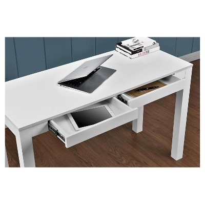 extra long desk 18 inch parsons extra long desk with drawers white ameriwood home