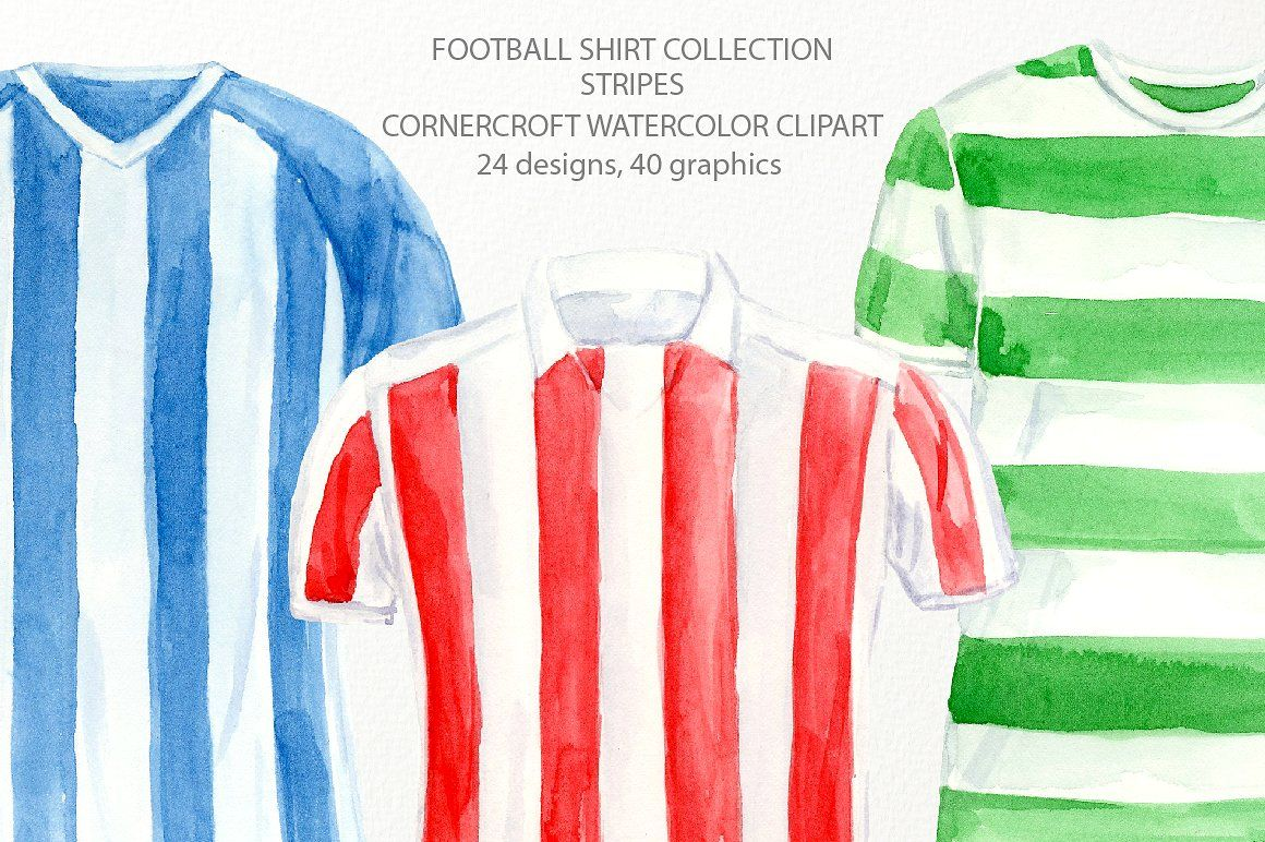 Striped Football Shirt Clipart Football Shirts Shirt Clipart
