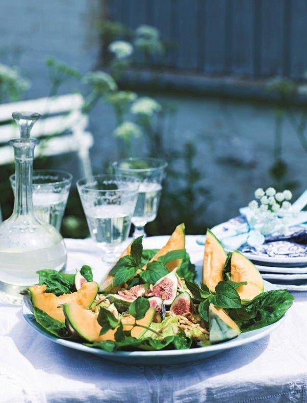 Recept Insalata con pollo melone e fichi