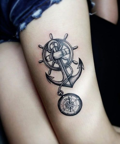 37 Captivating Anchor Tattoos Straight From The Sea Anchor