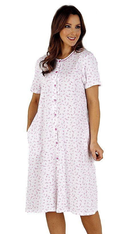 bd33a5a19f Slenderella Pure Cotton Button Through Nightshirt - Suzanne Charles ...