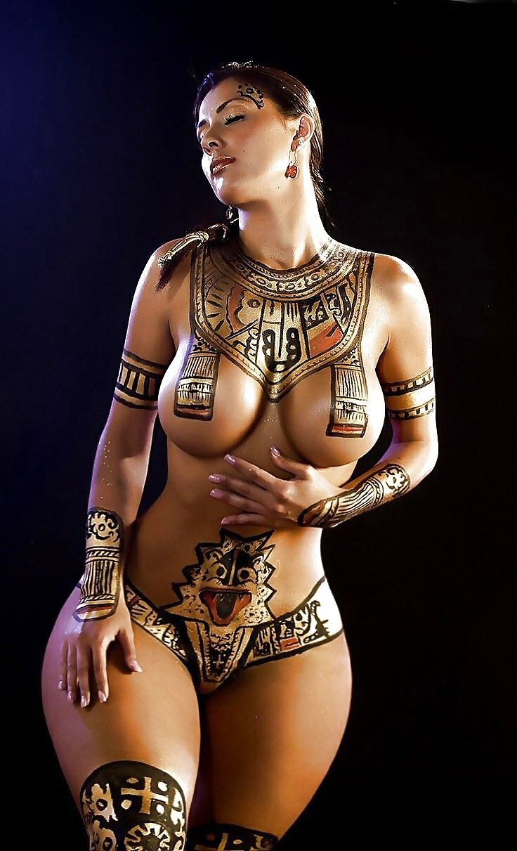 Egyptian body paint-5270