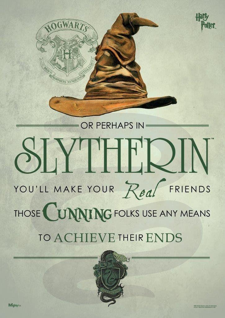 Amazon Com Harry Potter Sorting Hat Slytherin Mightyprint Wall Art Next Generation Premium Harry Potter Sorting Harry Potter Sorting Hat Harry Potter Houses