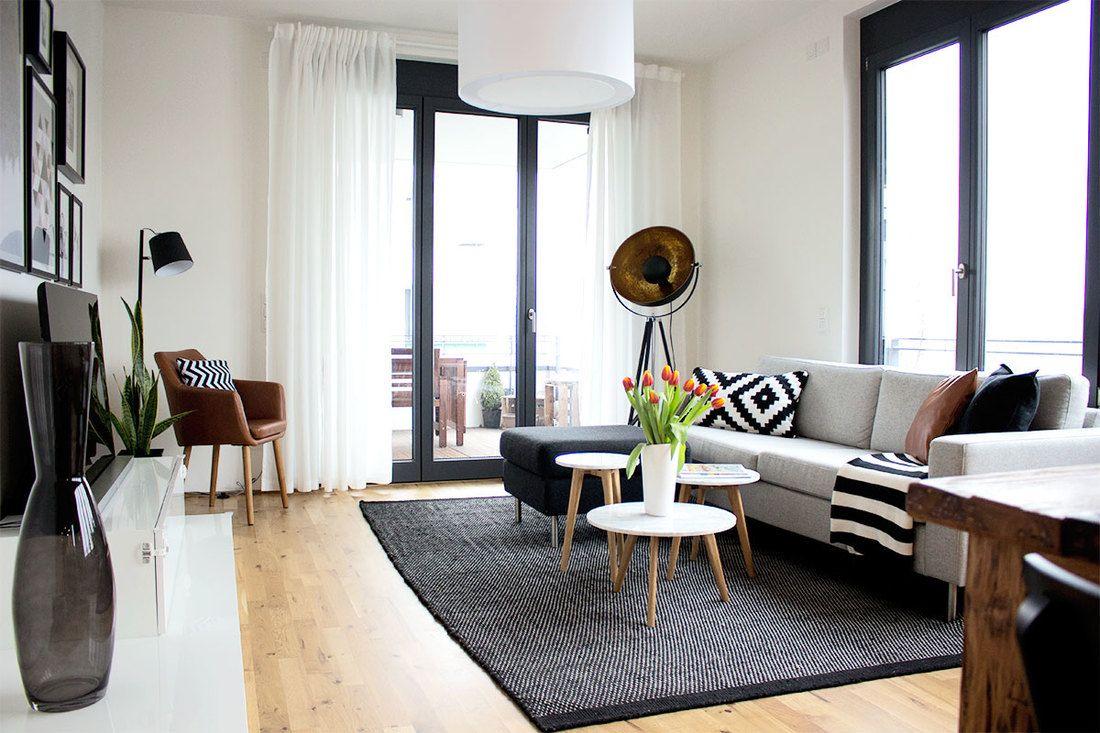 Make-over: Moderne Neubauwohnung im skandinavischen Stil | Townhome ...