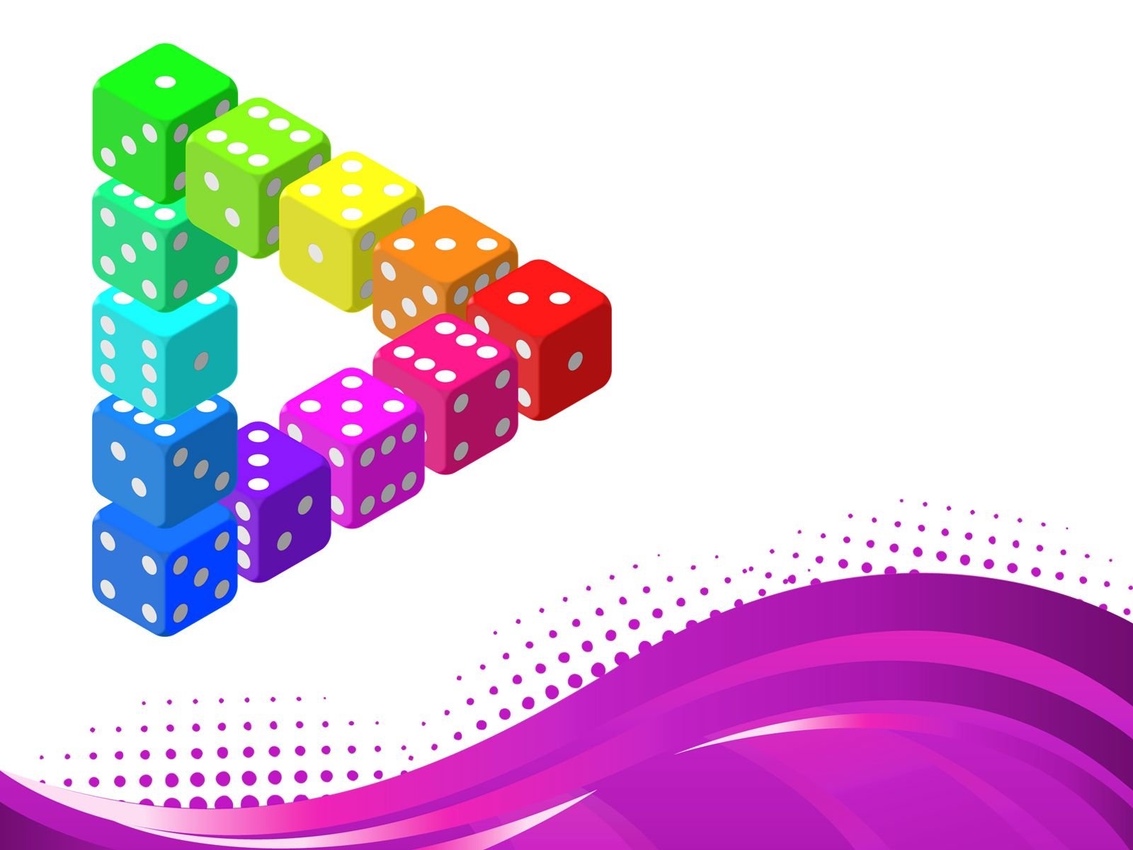 Download Free D Dice Powerpoint Templates Containing Dices With