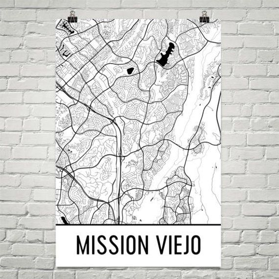 Mission Viejo Map Mission Viejo Art Mission Viejo Print Mission