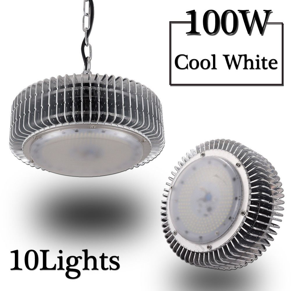 10x 100w Led High Bay Light Lamp Industrial Factory Warehouse Roof Shed Lighting Ebay Link High Bay Lighting Bay Lights Lamps For Sale