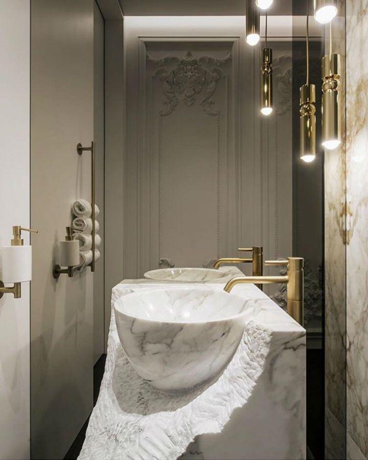 50 Bathroom Ideas With Gold Touches Kleines Badezimmer Mobel Bad Inspiration Und Naturstein Bad