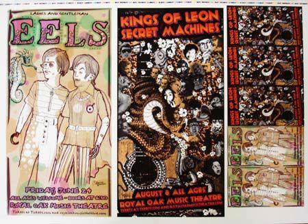 Eels-Kings of Leon | ... Music Posters - Memorabilia, Concert Poster, Silkscreen, Poster Art