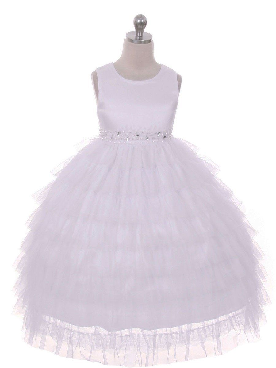 61421adc49e Fanciful Layered Flower Girl Dress