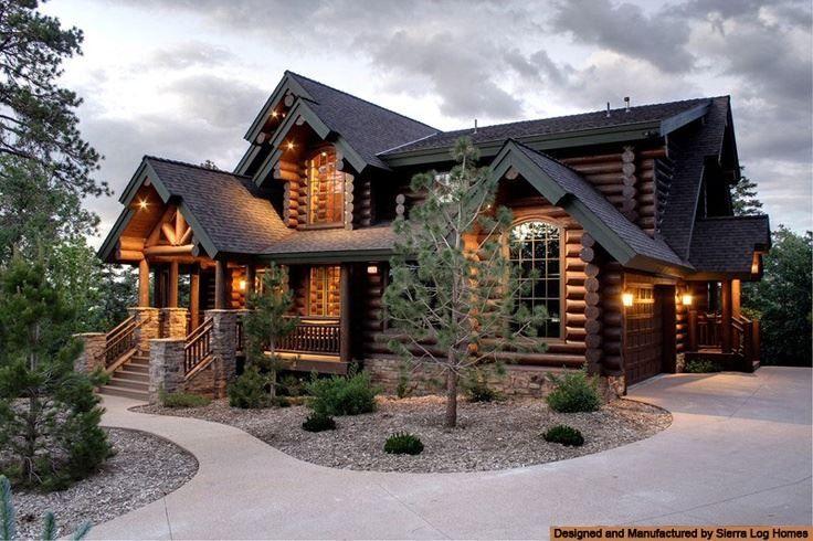 Beautiful Log Cabin Home Rumah Balok Kayu Arsitektur Rumah Impian