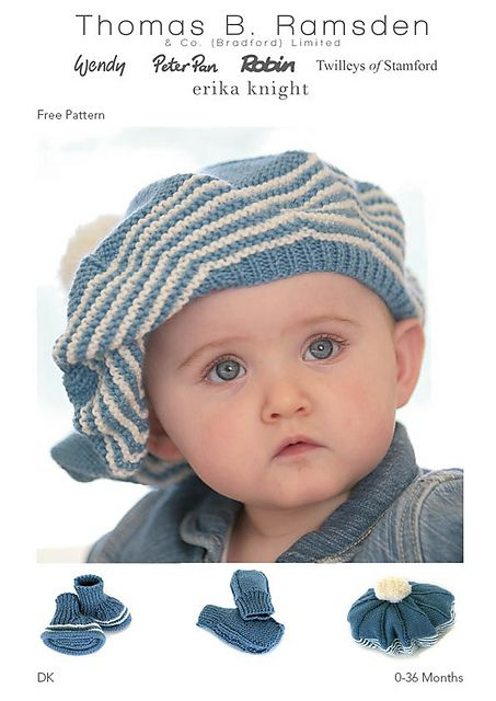 Ravelry Dk Hat Beret And Bootees Pattern By Thomas B Ramsden Co