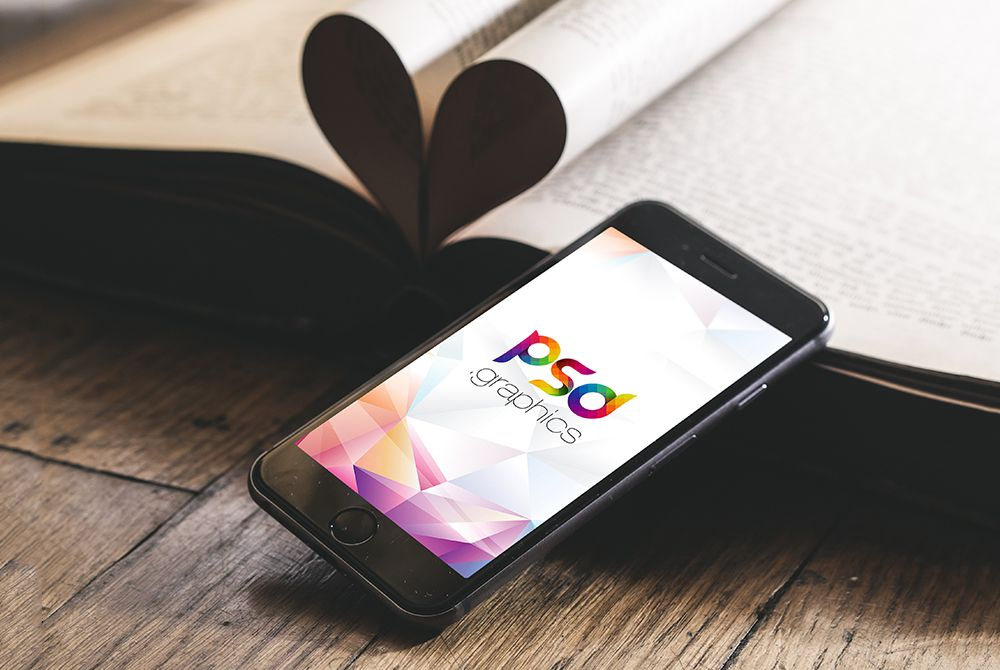 Download Iphone On Wooden Table Mockup Free Download Iphone Mockup Free Mockup Free Psd Iphone Mockup Psd
