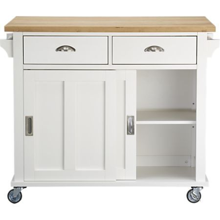Belmont White Kitchen Island + Reviews | Crate and Barrel in 2019 ...