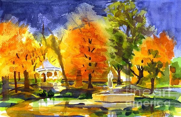 Autumn Gold 2 in watercolor