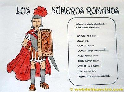 Nmeros romanos  Web del maestro  palabras e ideas para el aula