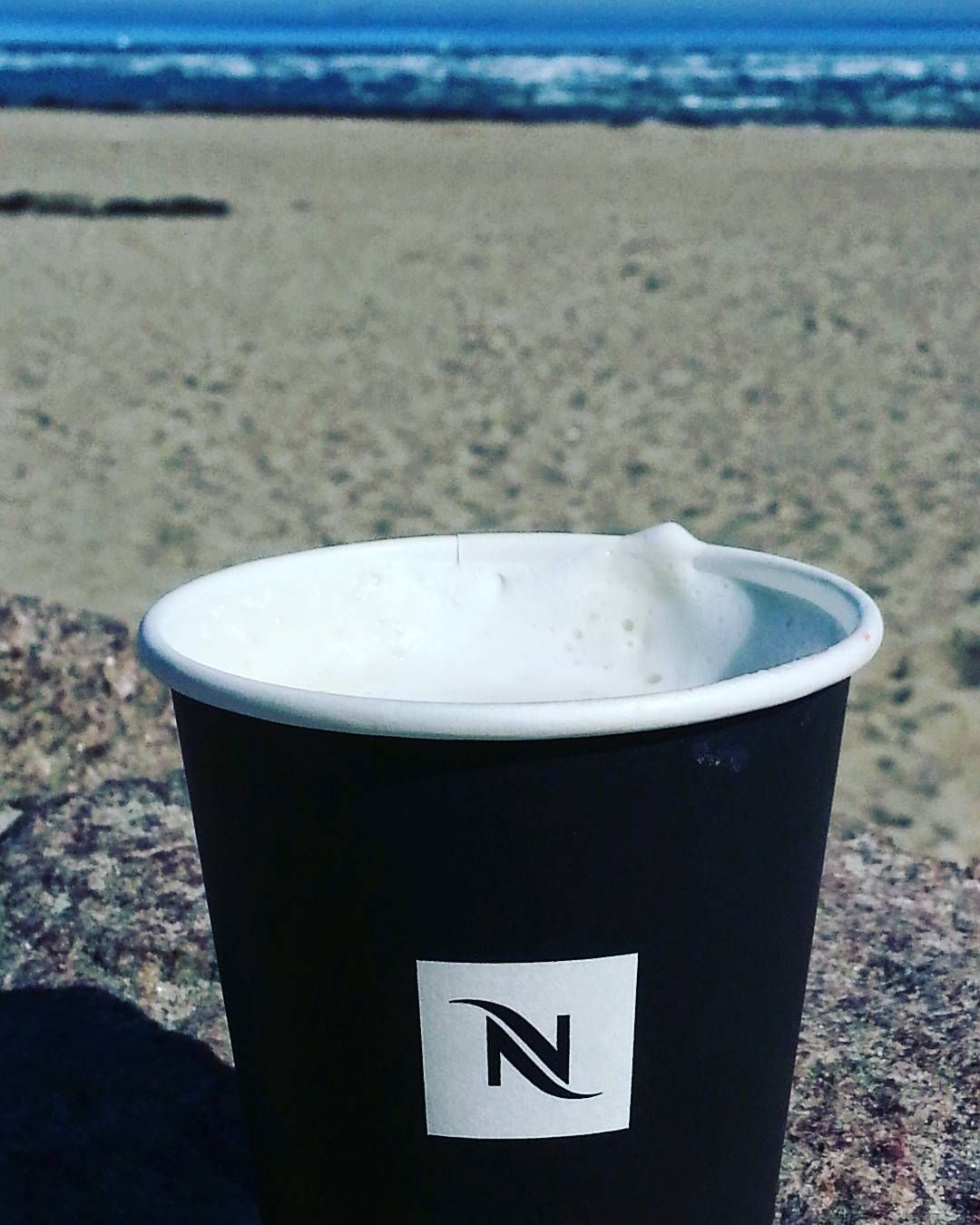 Nespresso Is Everywhere Lovely Coffee On The Beach Enjoying The