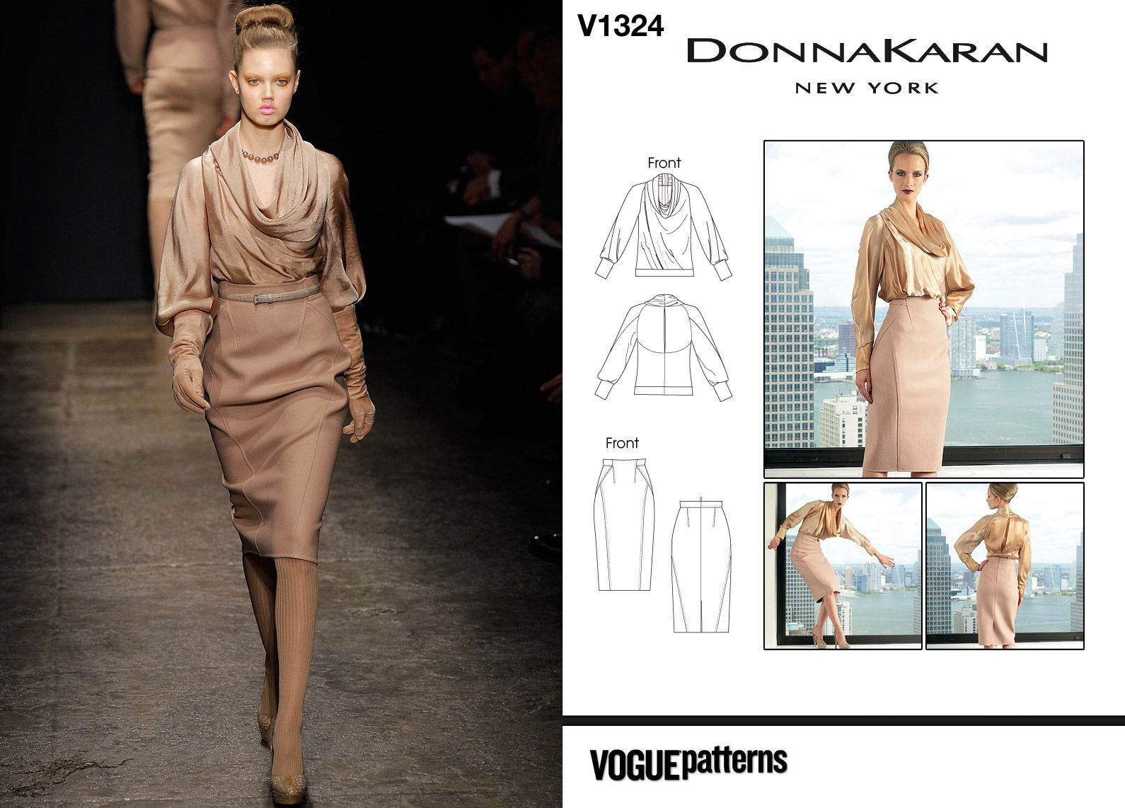 Donna Karan Fall 2011 / Vogue V1324