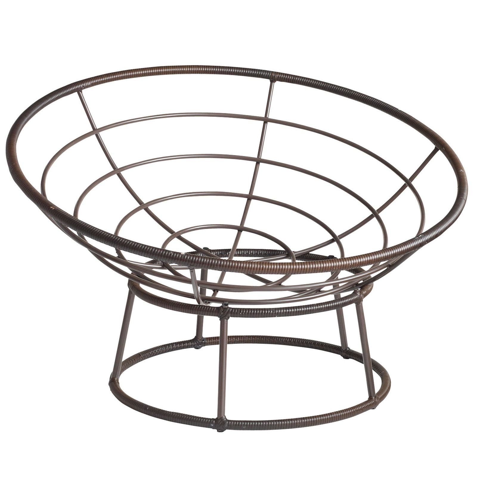 Outdoor Mocha Papasan Chair Bowl