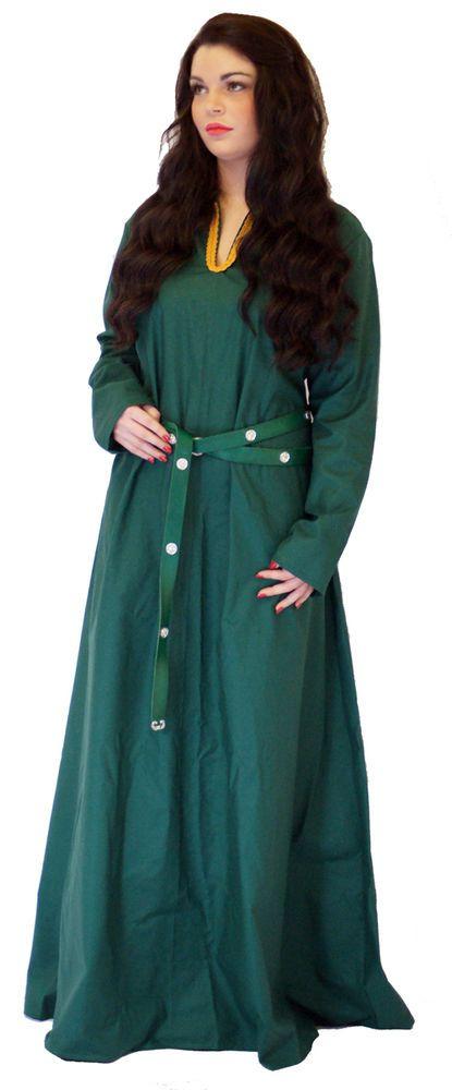 Medieval/LARP/Dark Age/Viking/Re enactment  DEEP GREEN KIRTLE Under Dress  #BLACKSTARMEDIEVALCLOTHING