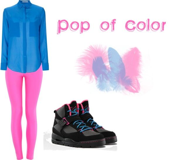 """""""POP OF COLOR"""" by pscarborough ❤ liked on Polyvore"""