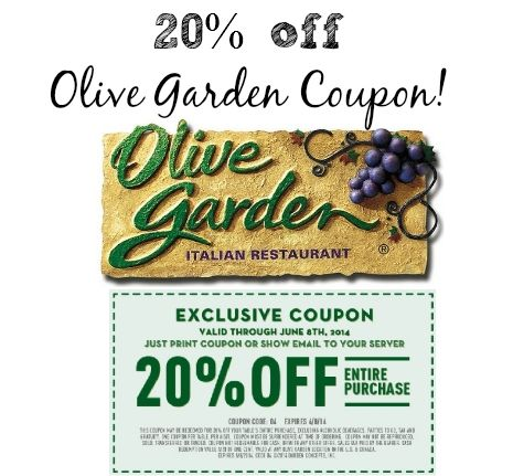 Free Olive Garden Coupons