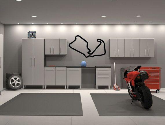 Silverstone Motor Racing Circuit United Kingdom Uk Race Track Etsy Garage Interior Garage Design Garage Decor
