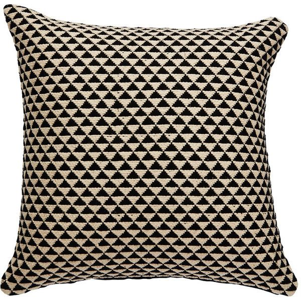 National Geographic Home Collection Pillow in Caviar & Antique White... (135 CAD) ❤ liked on Polyvore featuring home, home decor, throw pillows, pillows, textured throw pillows, inspirational throw pillows, cream throw pillows, ivory throw pillows and inspirational home decor