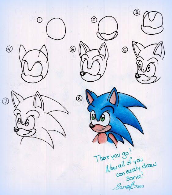 Comment Dessiner Sonic The Hedgehog Comment Dessiner Sonic