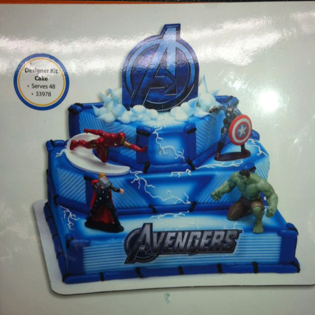 Avengers Cake from Walmart Cakes cupcakes and more Pinterest