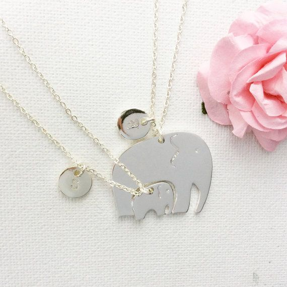 Mother and daughter elephant necklace elephant necklace gift for mother and daughter elephant necklace elephant necklace gift for mum mum gift aloadofball Image collections