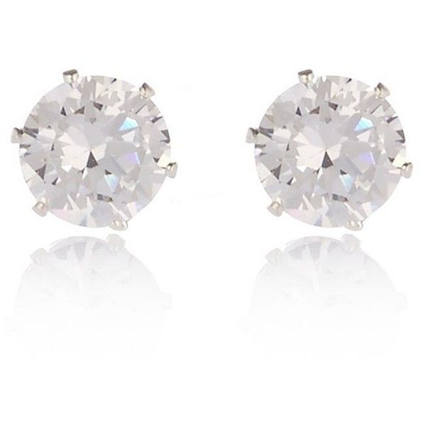 River Island Silver Tone Sparkly Gem Stud Earrings 7 94 Liked On Polyvore Featuring Jewelry Accessories Earring Gemstone
