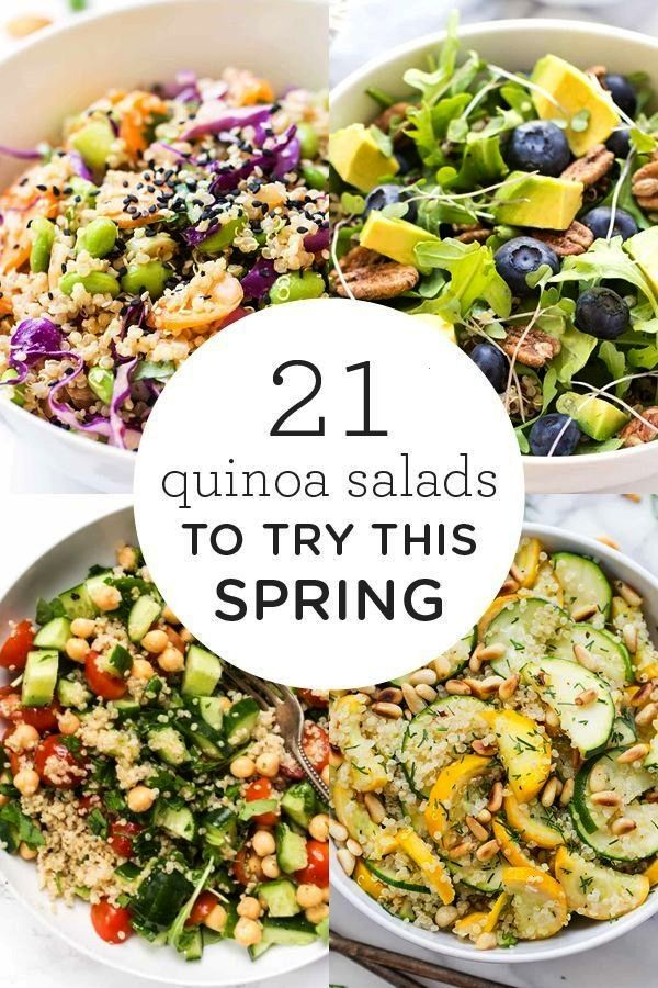 Quinoa Salad Recipes to Try This Spring Looking for clean eating lunch or dinner recipes?! Here's 2