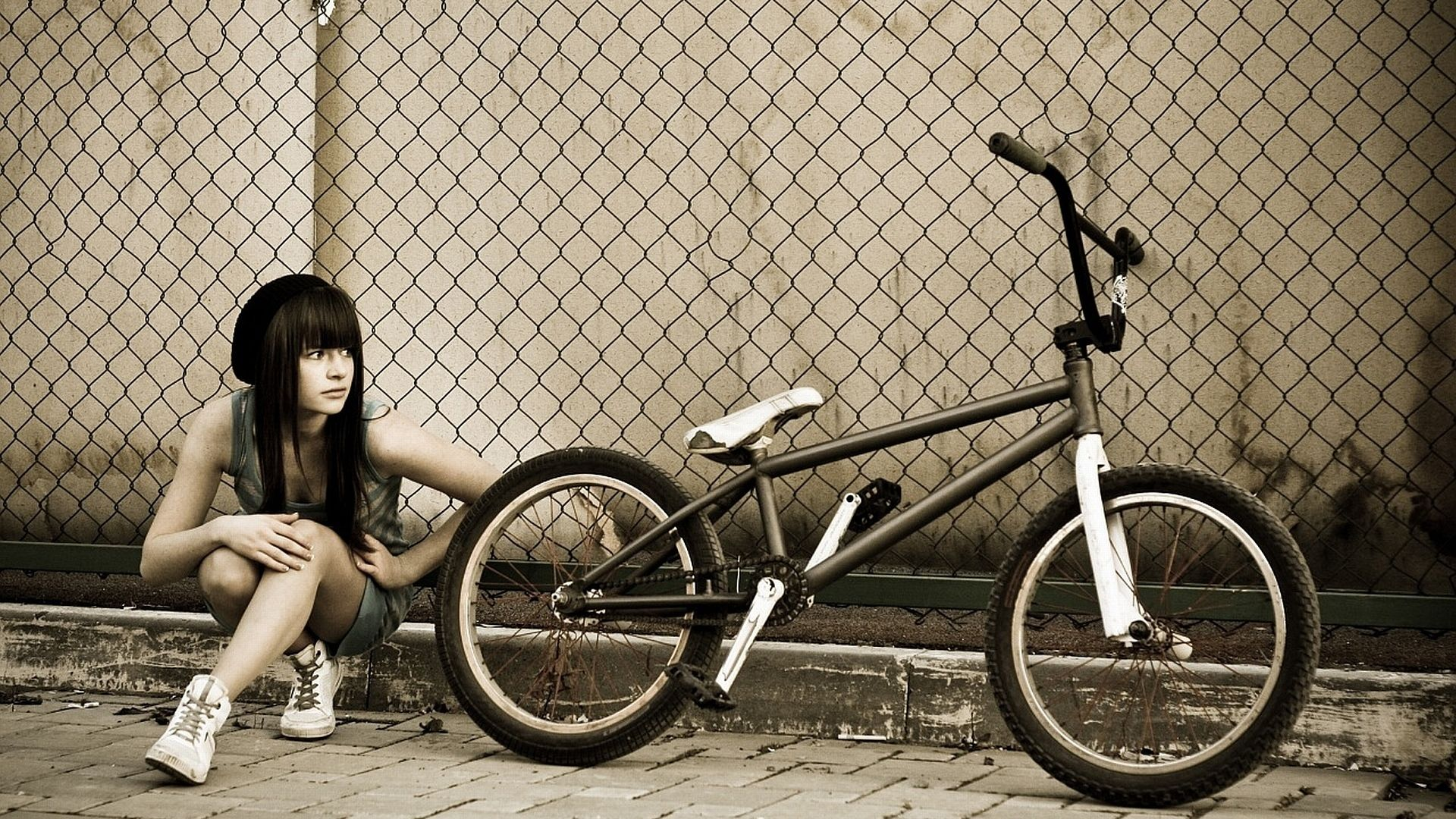 Girl and bike wallpapers pinterest bmx bmx voltagebd Choice Image