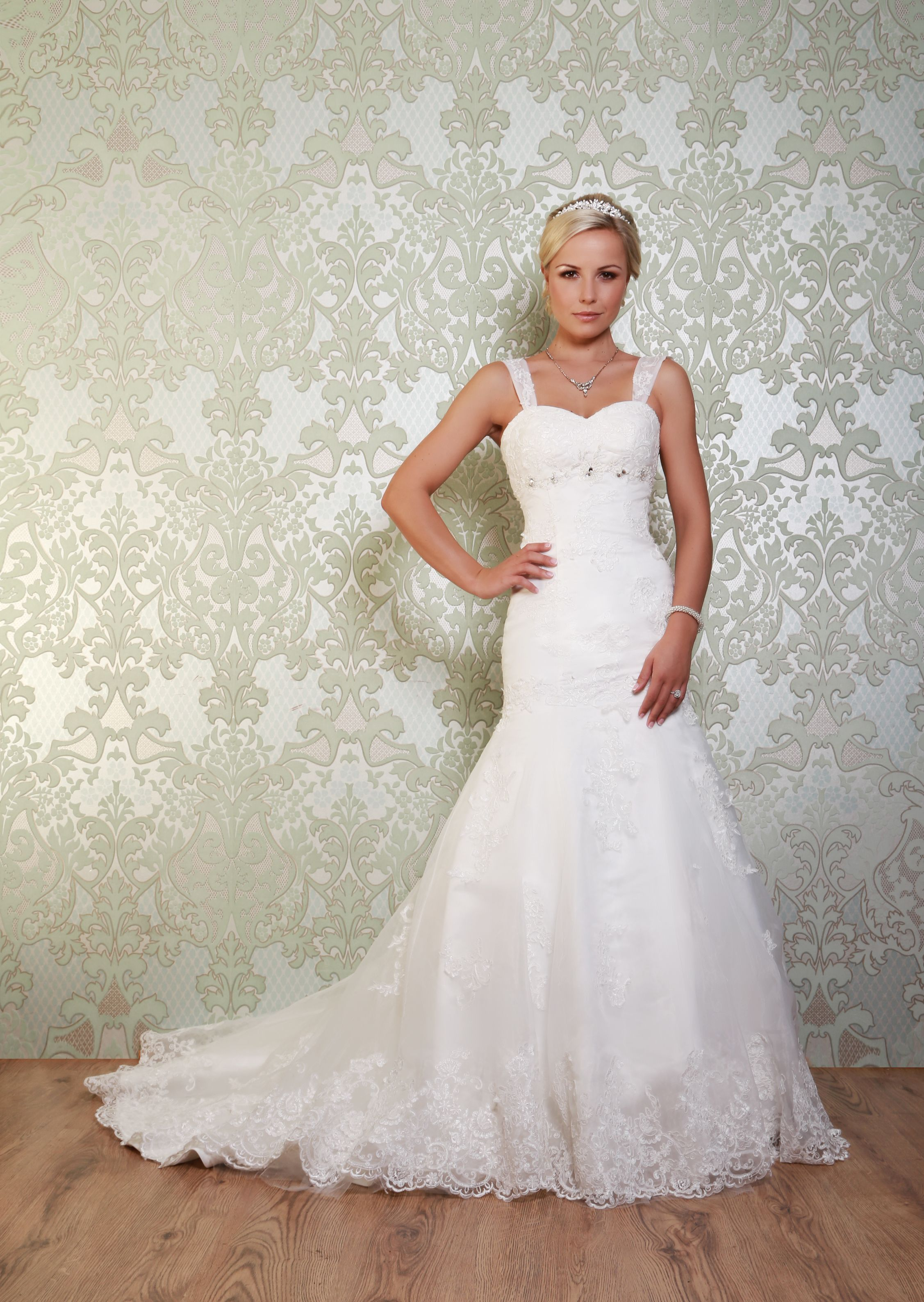 Detachable skirt wedding dress  Mirandau  Made from beautifully embroidered organza Miranda